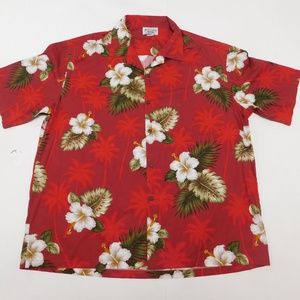 Pacific Legend 2XL Red Button Down Shirt  Cotton